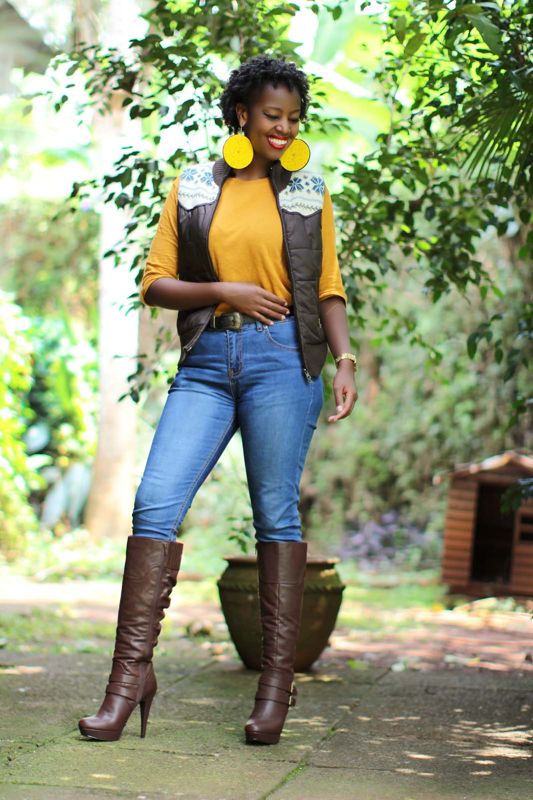 Kenya Fashion Bloggers | denim and cateye