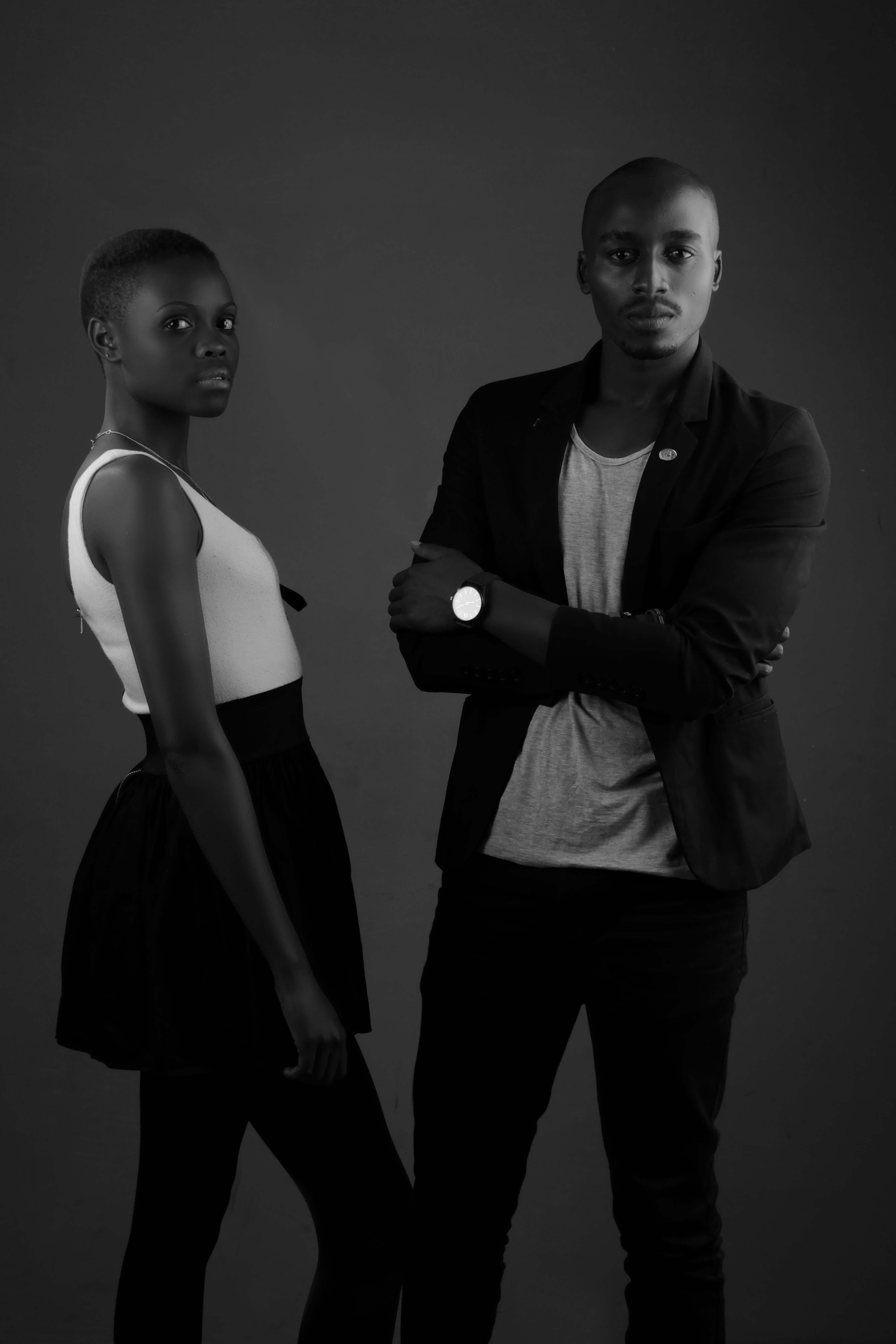 Edgar Gichini Ngua & Maken Munene Creative Studio portrait Lighting Black and White