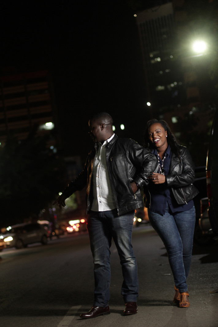 Loise & Josiah Engagement in the streets of Nairobi