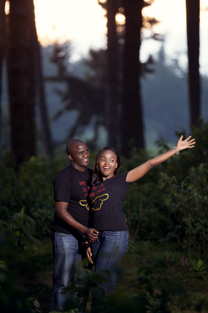 Grace & Moses Kinare Forest :: Nairobi Kenya Streets Engagement