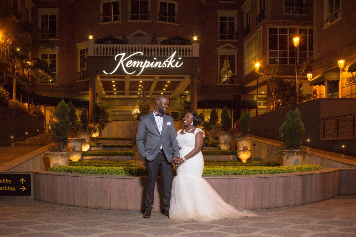 Rachael & Caxton true love story at Villa Rosa Kempinski Chiromo Rd, Nairobi